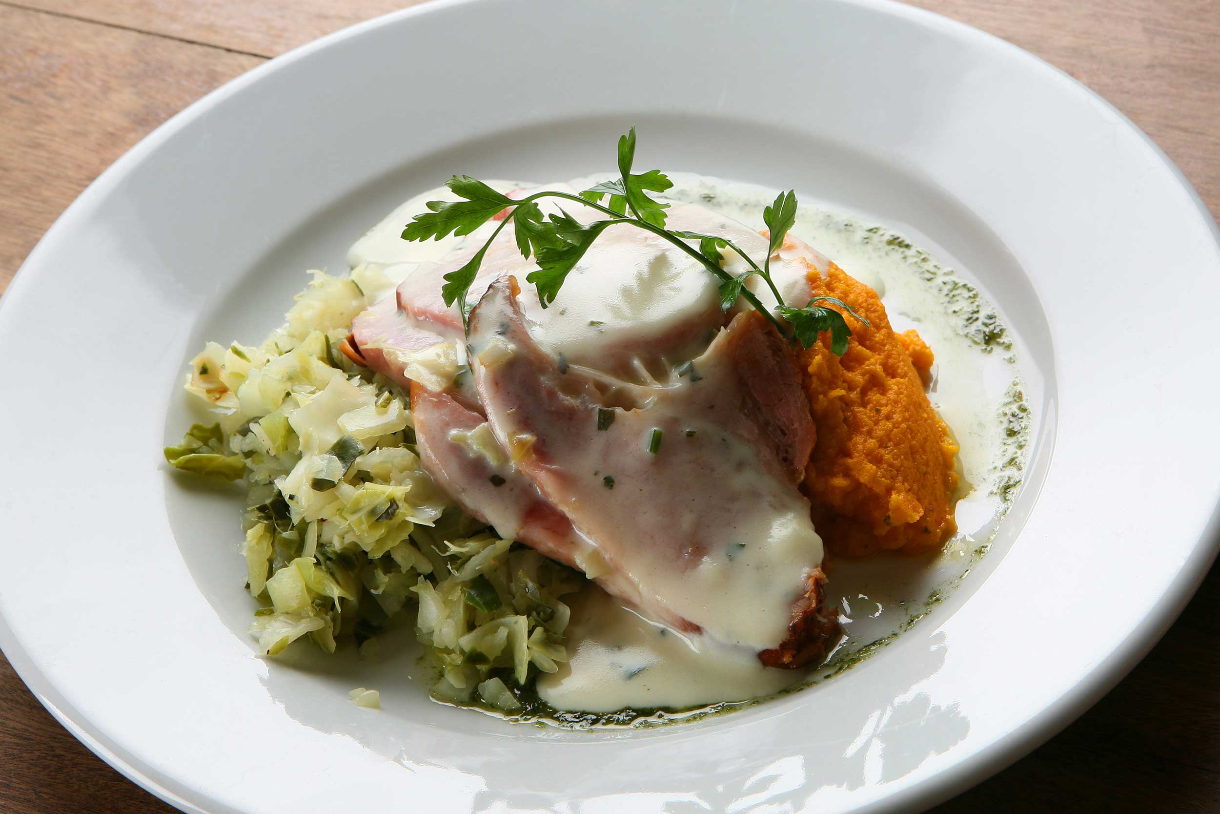 Bacon and Cabbage. A delicious traditional Irish recipe